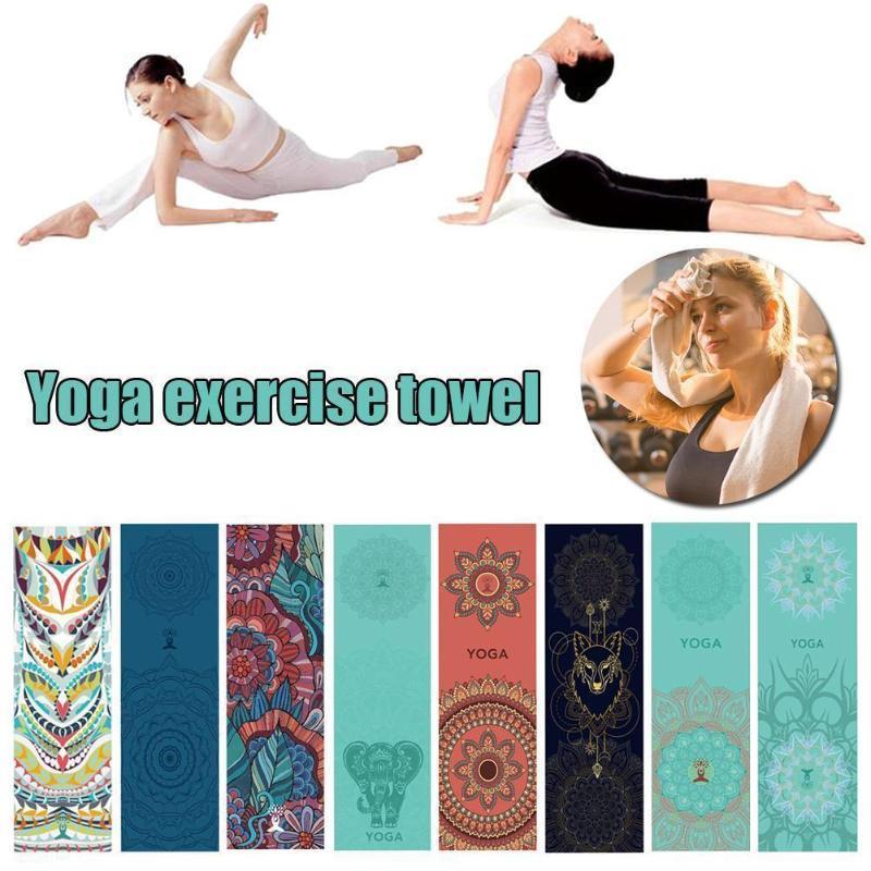 30 * 100см йога упражнения полотенце быстрый сухой йога студия путешествия крышка полотенце полотенца спортивные нескользящие фитнес быстро сухое