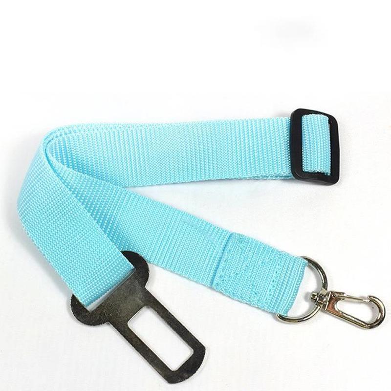 Cinturón de seguridad de automóviles PET salga a la cuerda de cadena portátil para prevenir gato y perro Cojín de rayas extensor de correas de collares