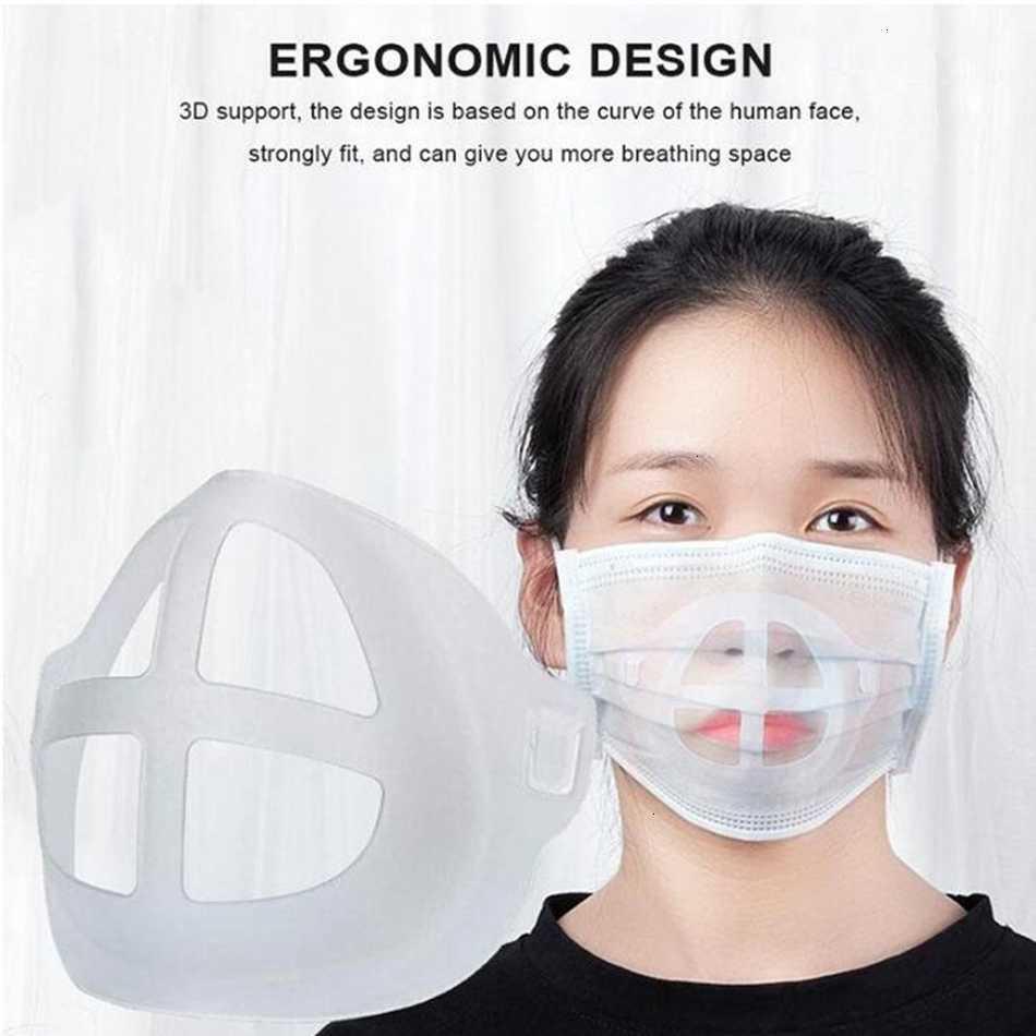 Silicone Batom Proteção Máscara Suporte Suporte 3d Suporte Interno Aprimoramento de Respiração Suavemente Masks Ferramenta Acessório 5000PCS LJJP453-2