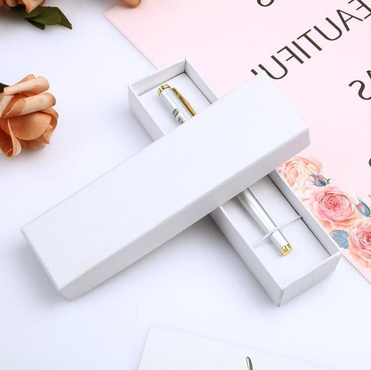 Moda Pen Display Packaging Caixa Presente Jóias Caso de Embalagem de Papel Rígido Papel de papelão Atacado Envoltório