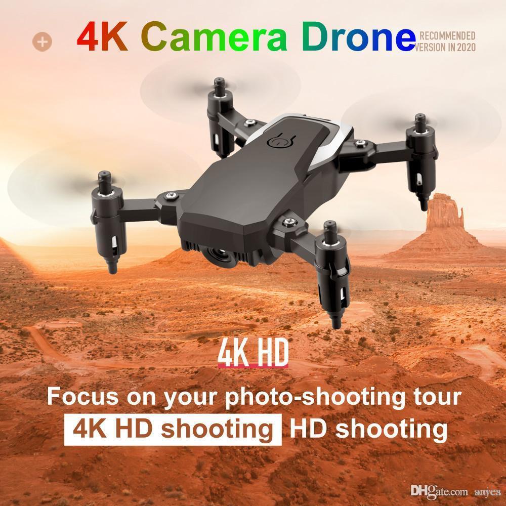 2021 Последний мини Дрон 4k 1080p HD камера Wi-Fi FPV Возрождение воздуха Высота Высота складной Quadcopter RC Dron в режиме реального времени передача вертолет