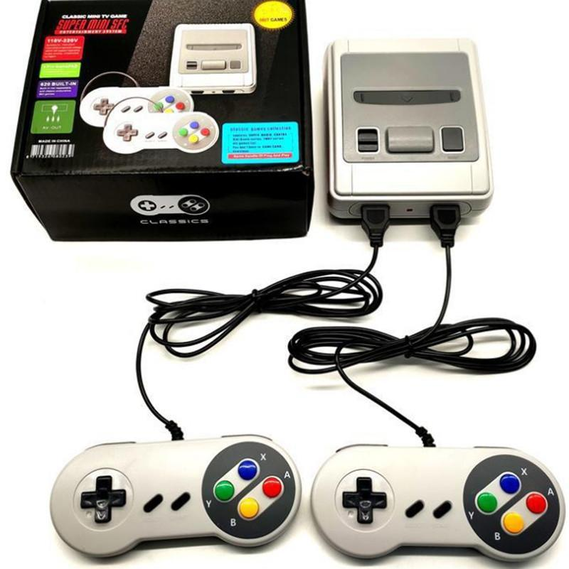 Video Oyunu Konsolu Nostaljik Host AV Çıkışı Retro SFC için 620 Oyunlar TV 8 Bit Ailesi Mağaza Mağazası