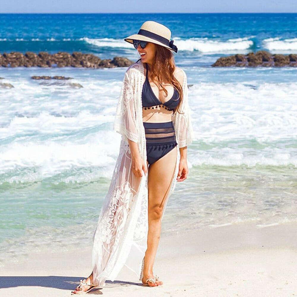 Mulheres Swimwear Malha de Verão Sheer Long Cover-Ups Mulheres Bikini Cobertura Up Beach Batsuit Shop