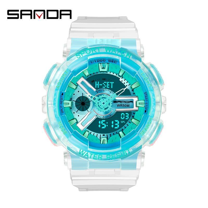 Männer Dual Display Armbanduhren Paar Uhr Damen Wasserdichte LED Elektronische Armbanduhr Tauchen Handgelenk Outdoor Sport