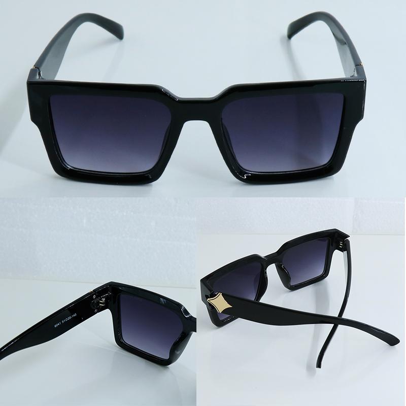 남자와 여성 스타일의 선글라스 6041 자외선 보호 레트로 플레이트 스퀘어 큰 프레임 패션 안경 선글라스 디자인 인기 안경