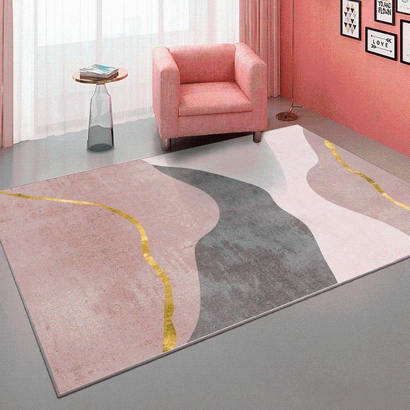 Light Luxury Carpet Living Room Tea Table Mat Nordic Bedroom Bedside And Rugs Art Ins Style Rug Non-slip Floor Mats Carpets