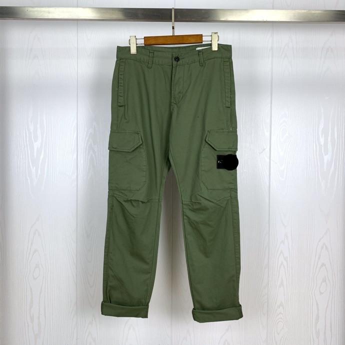 21ss Bahar Erkekler Pamuk Pantolon Temel Pusula Rozeti Işlemeli Yüksek Kalite Takım Cep Pantolon Spor Giymek Rahat 2705