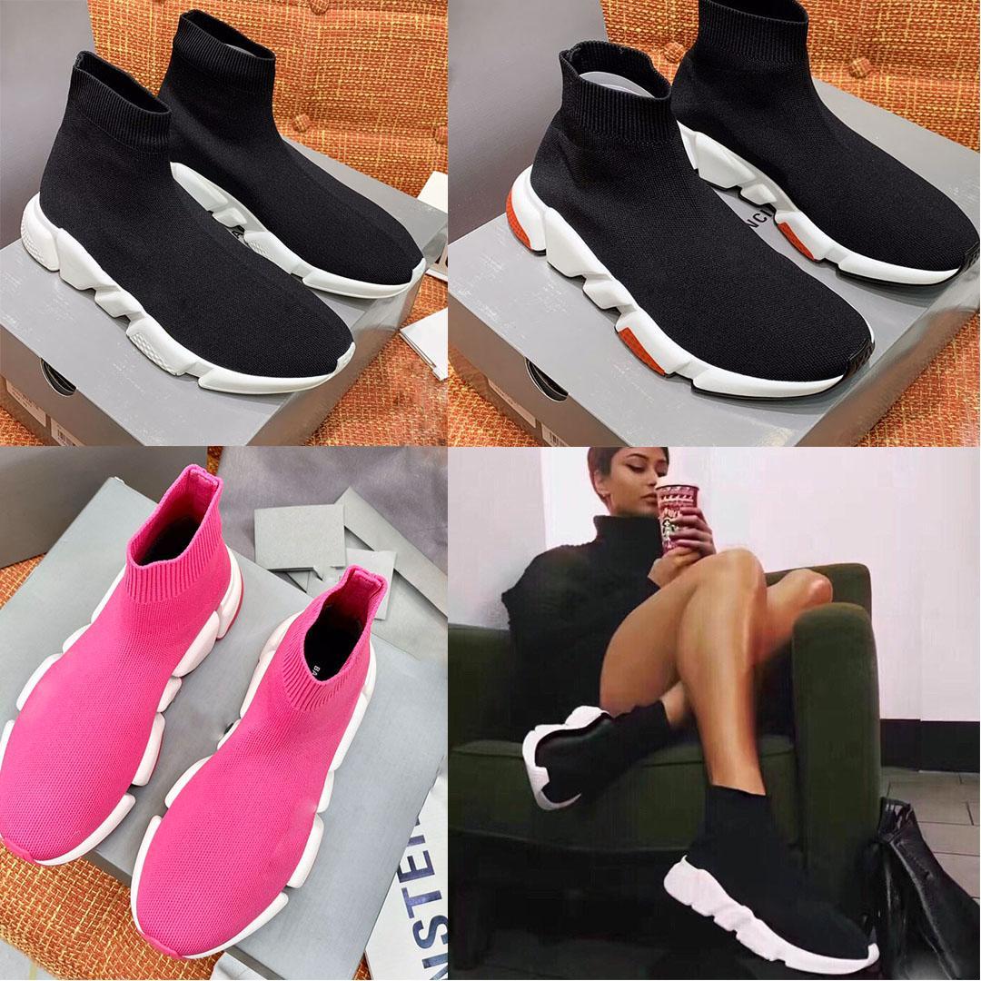 2021 discount كبار مصمم الأحذية عارضة أسود الوردي الفاخرة المرأة آلهة الجوارب الرياضية منصة 35-40