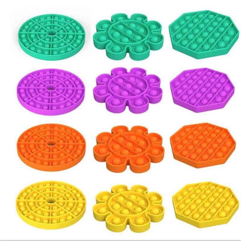 TIK TOK POP Fidget Toy Sensory Push Pop Bubble Fidget Gift Sensory Autism NECESIDADES ESPECIALES NECESIDADES ANSIADORIO ANTISIO ANTISURA PARA NIÑOS JUGUETES EDUCATIVAS E122202