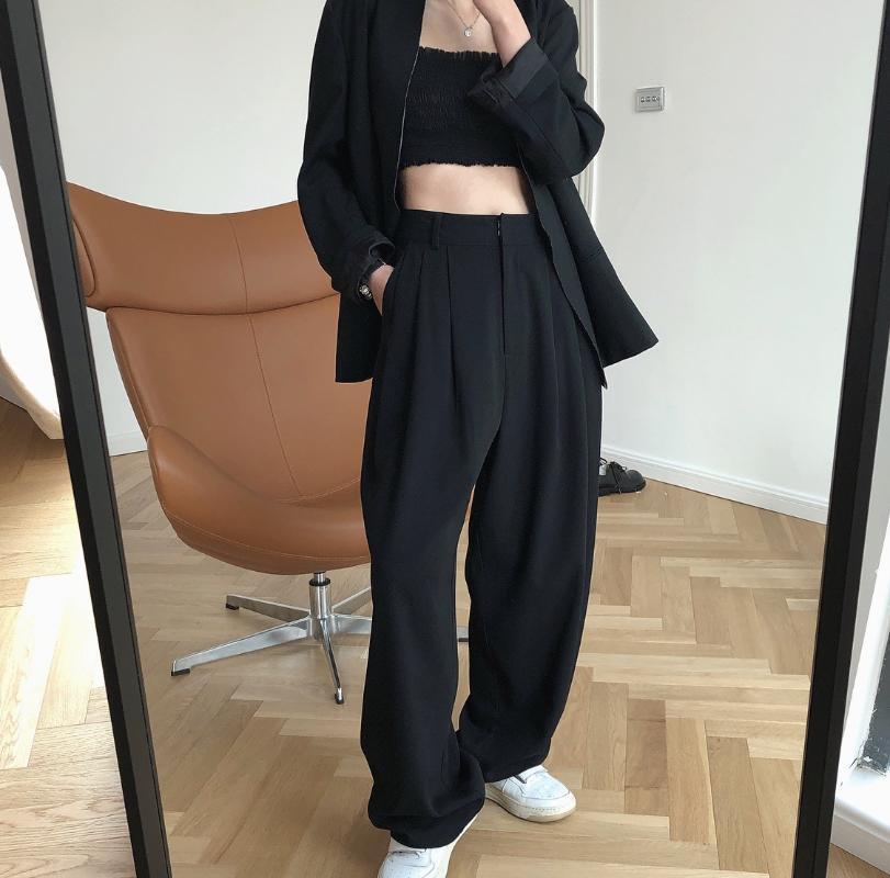 Pantaloni da donna Capris Hip Hop Donne a vita alta Streetwear Streetwear ampia gamba Harajuku Korean Pantalone di qualità Joggers Tracksuit Dance Ropa