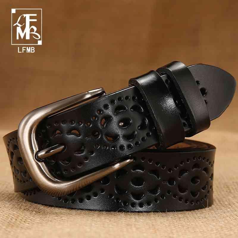 [Lfmb] cintos para fêmea cinta genuína feminina cintas vestido cowskin couro senhora cinto 210326