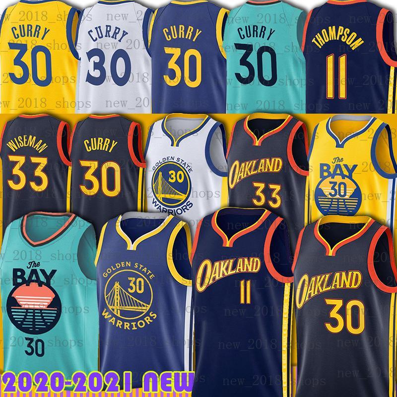 "Golden ""State"" Warrior ""Basketball Jersey Stephen 30 Curry James 33 Wiseman Klay 11 Thompson"