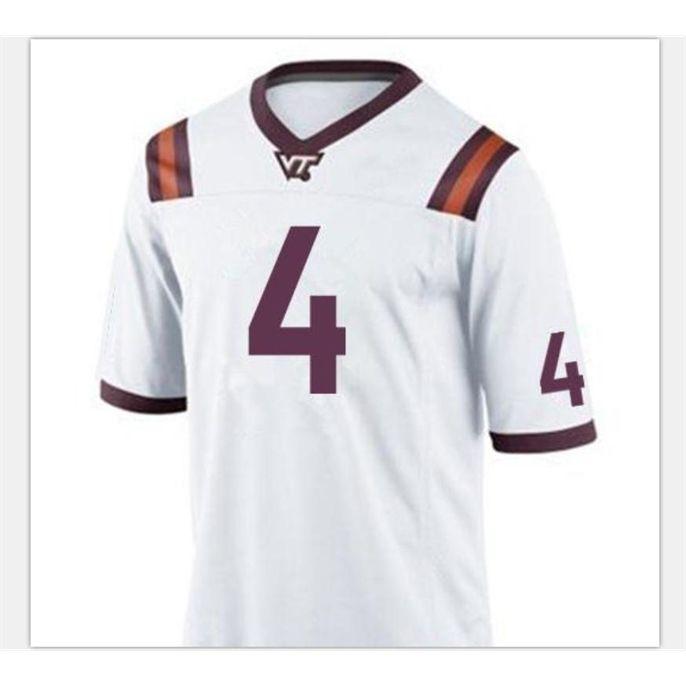 Özel Bay Gençlik Kadın VA Tech Hokies Dax Hollifield # 4 Futbol Forması Boyutu S-5XL veya özel herhangi bir isim veya numara forma