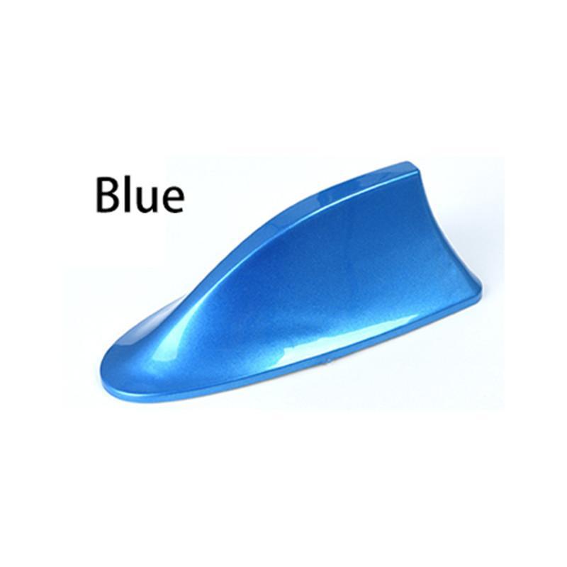 عالمي سقف السيارة الأزرق القرش زعنفة هوائي غطاء AM FM Radio Signal Asial Leshesive Base Fits معظم سيارات السيارات شاحنة سيارات الدفع الرباعي