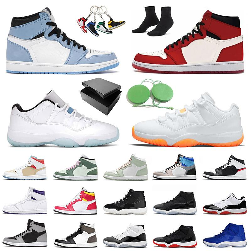 Air Jordan Retro 1 Mocha Jordans Jumpman 11 Citrus Low أحذية كرة السلة للرجال والنساء Fearless 1s Mid University Blue Concord High 25th 11s Space Jam UNC احذية المتدربين الرياضية