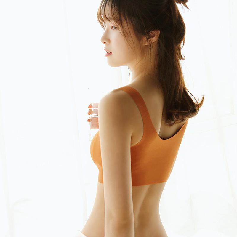 Japanese sleep sports underwear women's no steel ring gathered bra anti sagging outward expansion zero restraint shockproof vest