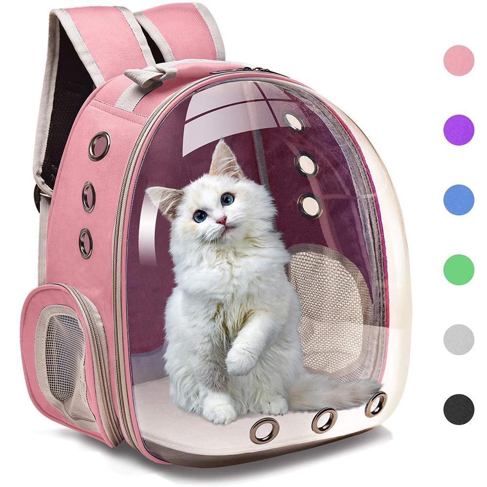 أكياس القط الناقل تنفس ناقلات الحيوانات الأليفة صغيرة الكلب حقيبة السفر الفضاء كبسولة قفص كيتي كيس النقل حمل للقطط