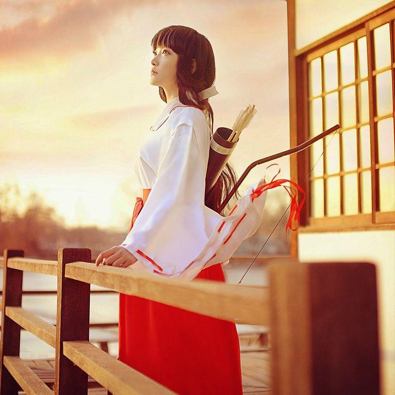 Inuyasha Cosplay Animation Platycodon Hexe Cos Costume Japanisches HEFENG Fotostudio Shake Hülse Kimono