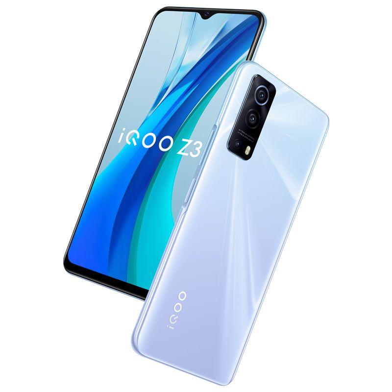 Original vivo IQOO Z3 5G Handy 6GB RAM 128 GB ROM Snapdragon 768g Octa Core Android 6,58 Zoll Vollschirm 64.0mp 4400mAh Fingerabdruck ID FACE WACK SMART Handy