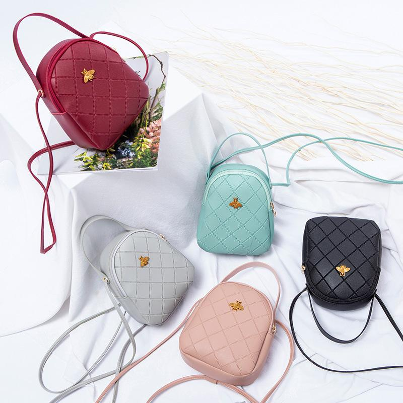 2021 New Korean Women's Little Bee Mobile Phone Portable One Shoulder Messenger Bag Mini Schoolbag