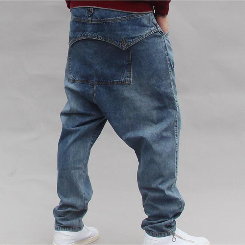 Uomo Denim Hip Hop Slip per Boy Rapper Fashion Plus Size Jeans