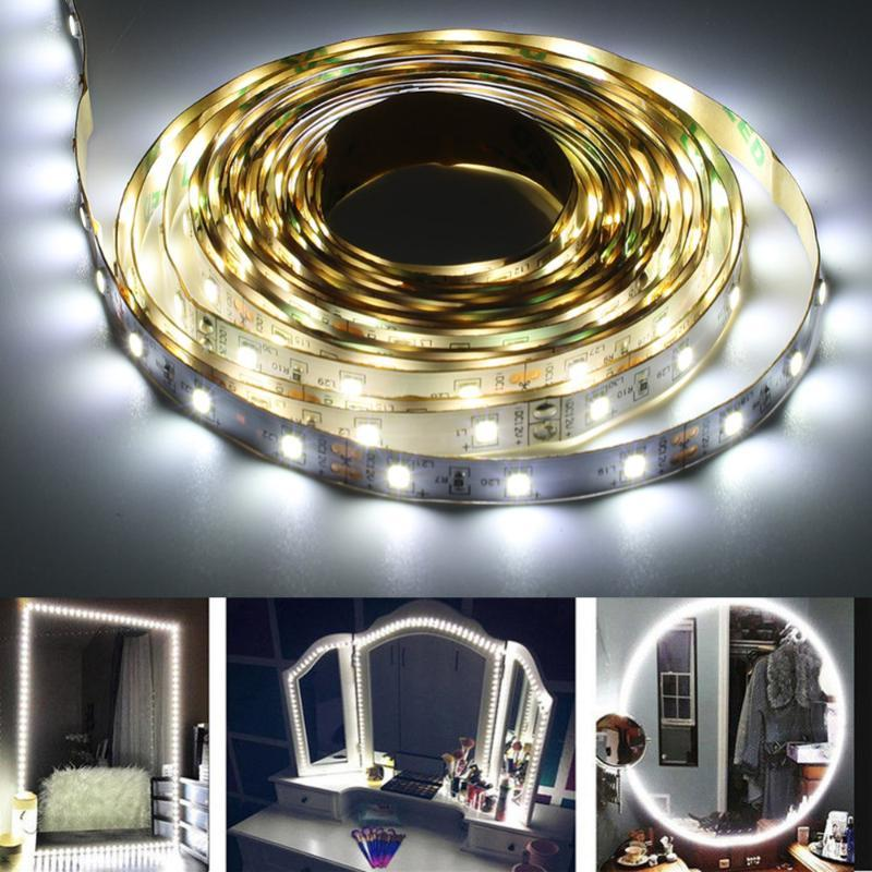 Espejos compactos 3 Tipos Mirror cosmético 13FT SMD 240 LED Maquillaje SIJO FRAND DE FUMA DE LUZ LUZ LÁMPARA DE VANITÍA KIT FLEXIBLE