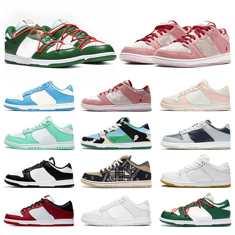 Authentic Men Women Trainers Dunks Low Running Casual shoes Arrival Court Purple Travis Scotts Chunky Dunky Green Glow Valentine Day White OFF Sports Sneakers