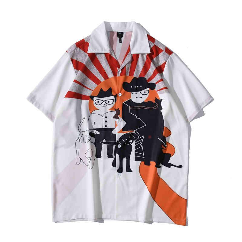 Camisa hawaiana hombres Vintage Streetwear camisas de hombre de manga corta de manga corta masculina top