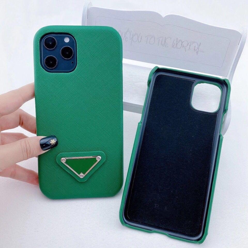 مصمم الأزياء الحالات الهاتف لفون 12 برو ماكس 11 XS XS كحد أقصى 7/8 بلس بو الجلود الهاتف قذيفة لسامسونج S10 S20 بلس ملاحظة 8 9 10