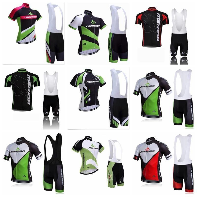 2019 Merida equipe ciclismo mangas curtas jersey (babador) conjuntos de calções ao ar livre sports road sportswear mens clothing cycle wear K012130