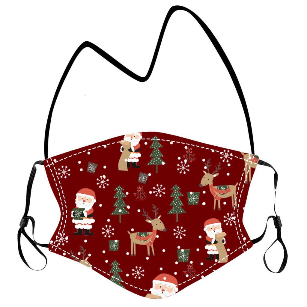 Filtros de Navidad Niños Colgando Cuello 2pcs Máscara protectora con máscaras de la fiesta de dibujos animados Cubierta de cara lavable Cuerda de cordón para niños DHL LQQ59 gratis