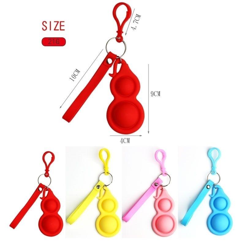 Push Finger Bubble Couleurs Fidget Sensory Keyring Autisme Spécial Stress Spécial Relever Toys Simple Silicone Jouet Keychain H31OPAS