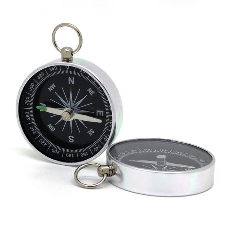 Por atacado mini bússola luminosa metal liga de alumínio esportes camping kompass ao ar livre caminhadas compass acessórios de equipamento miliário