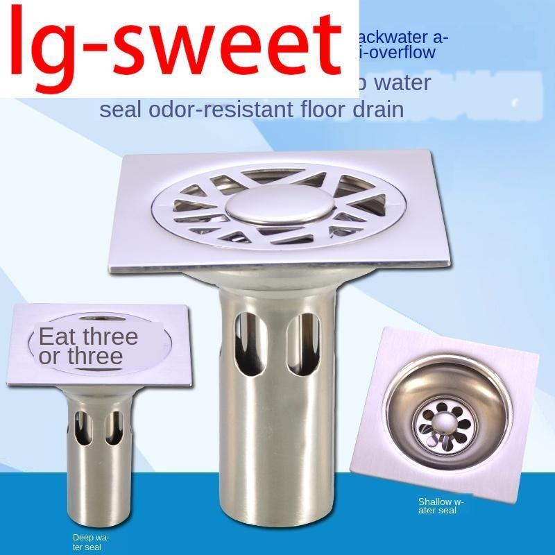 Outros banheiros fornece aço inoxidável de aço inoxidável dreno desodorante núcleo três vias de chuveiro máquina de lavar roupa tudo