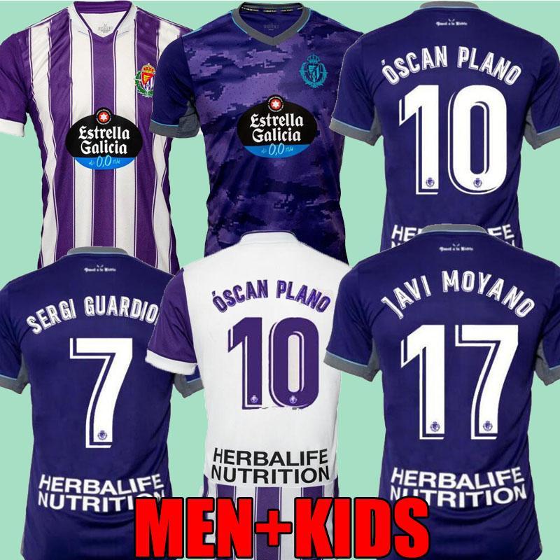 Real Valladolid 21 22 Jerseys de futebol Lucas Olaza casa fora Anuar Fede S. R. Alcaraz Sergi Guardiola Óscar Plano 2021 2022 Camisetas de Fútbol Men + Kit Kit Camisas de futebol