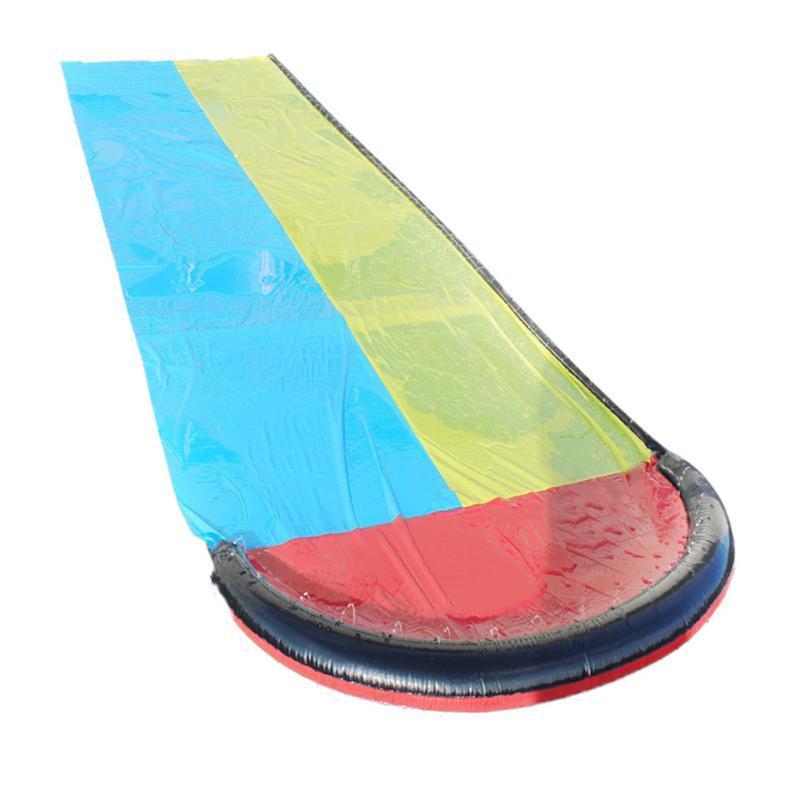 Water Slide 2 Lanes PVC Thicken Splash Pools For Children Kids Summer Activities Outdoor Toys Pool & Accessories