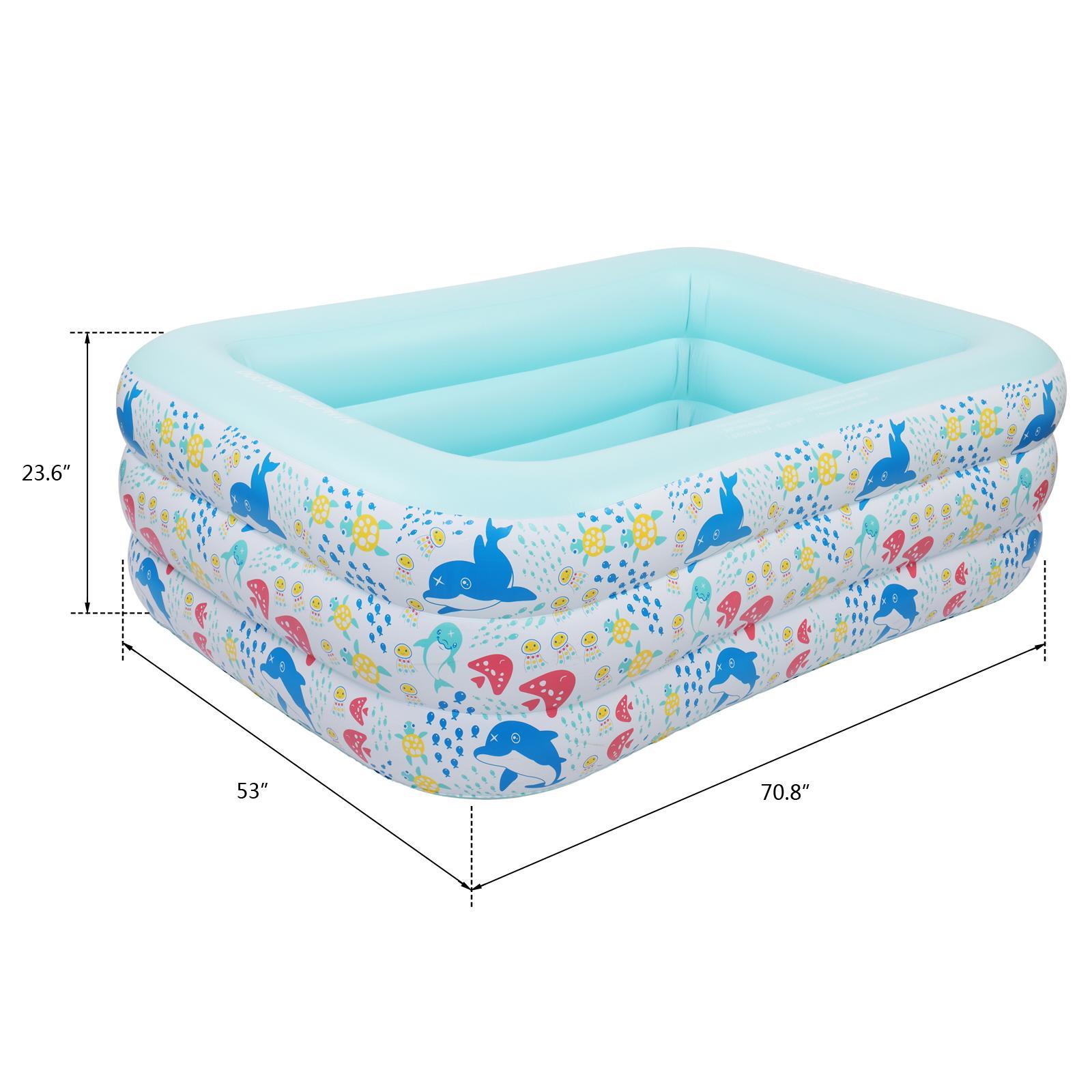 """Waco надувной бассейн для детей, дети, малыш, 70,8 """"x53"""" x23.6 """", на открытом воздухе, на заднем дворе, саду, крытый, лаундж взорвать кидди бассейны"""