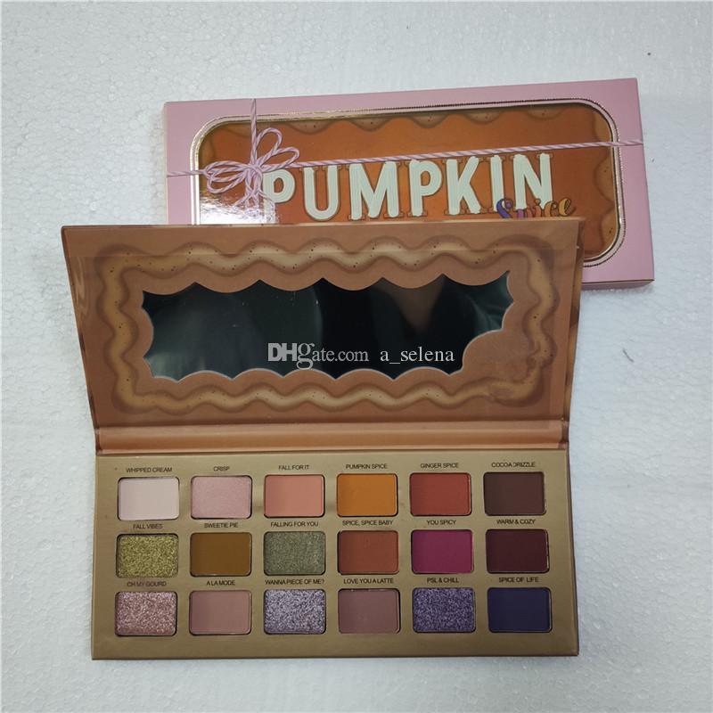 Eyes Trucco 18 colori Eyeshadow Palette arancione zucca colore opaco Shimmer Eye Shadow Christmas Limited