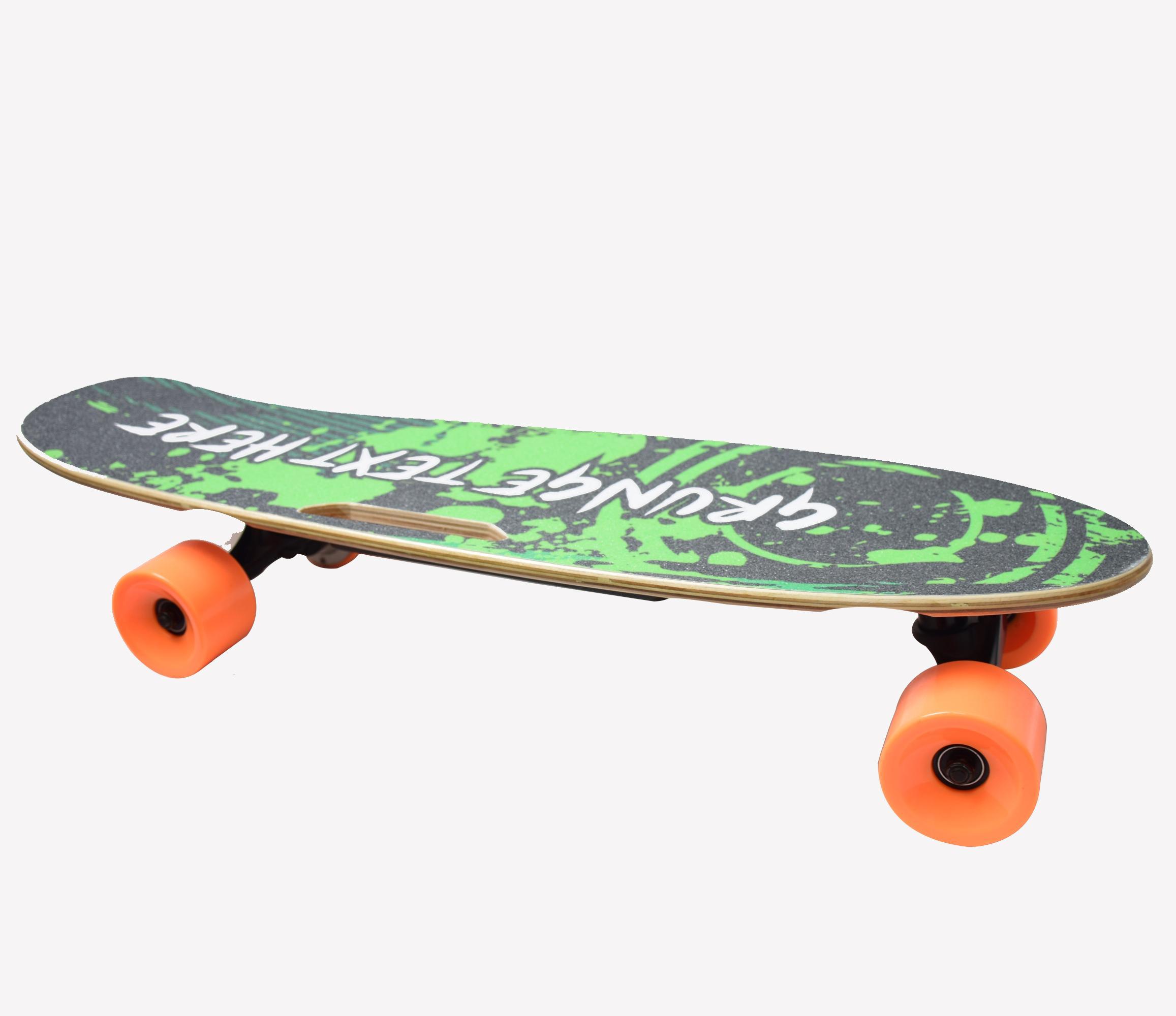 [UE INSTOCK] HT-S1 Smart Skateboard 4 ruote Longboard elettrico Bicicletta 300W 2 Doppio motore 24V 4.4Ah con telecomando digitale 2.4G Alta qualità