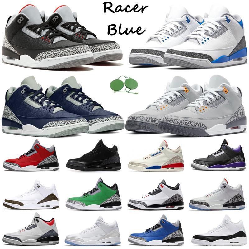 3S Jumpman Hombres Zapatos de baloncesto Air Jordan 3 Racer Blue UNC Midnight ARIÑADA COMENTARIO NEGRO CAT PINE GREEN KATRINA KATRINA MENS TRIPANTES DEPORTES al aire libre
