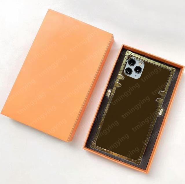 Capas de telefone de desenhista de couro superior para iphone 12 pro max mini 11 xs xr x 8 7 mais moda pulseira imprimir tampa traseira luxo case aviadores de casca com caixa