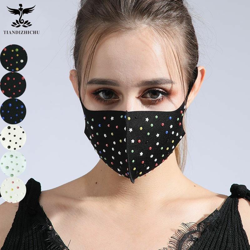 Модная новая черная пыль доказательство хлопка творческая трехмерная жемчужная чистая цветная маска