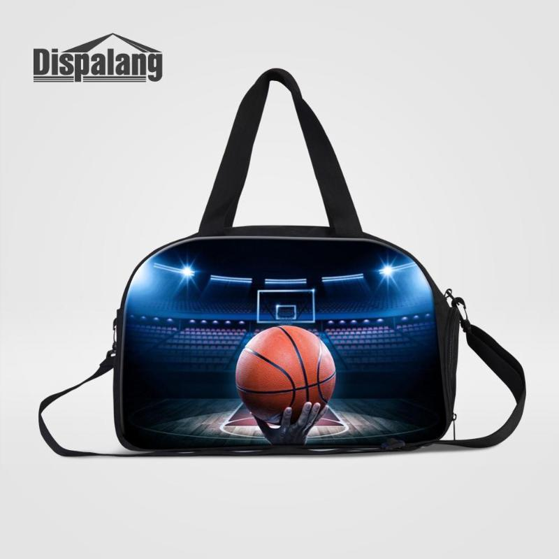 Duffel Bags Dispalang Basketball Travel Duffle Bag For Boys Men Outdoor Sporty Weekend With Shoes Pocket Male Overnight Handbag