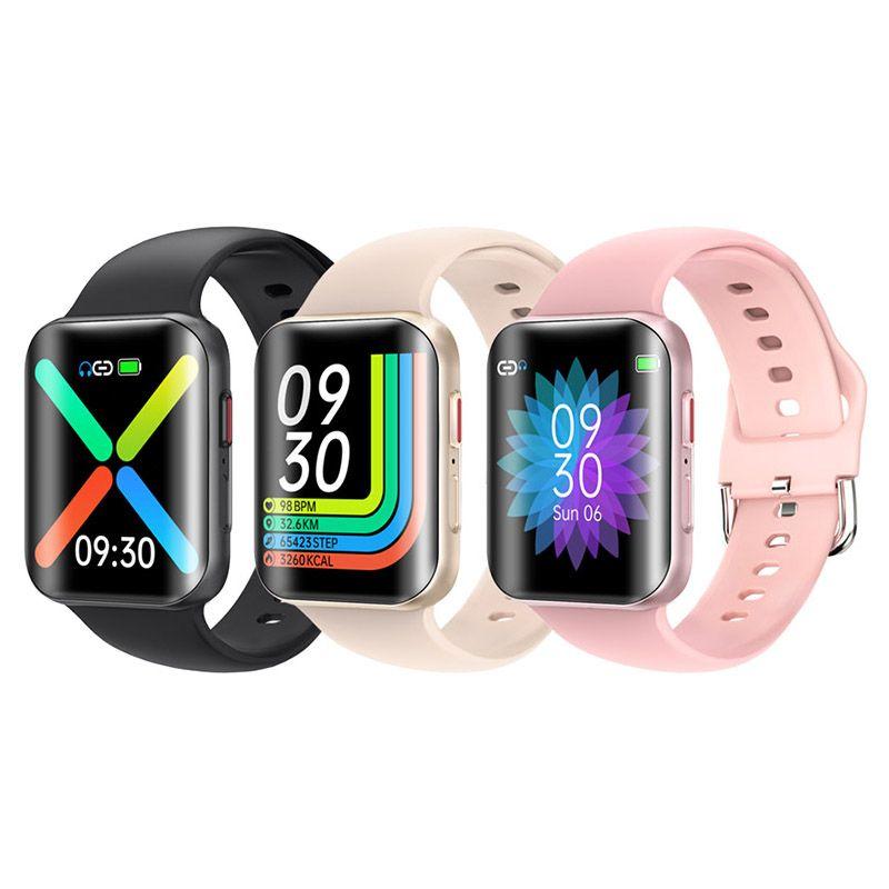 T68 Smart Watch Uomo Donna Full Touch Hyperboloid Screen Bluetooth Chiamata Informazioni sulla musica Promemoria orologio Sport Band Allarme Allarme Allarme Fitness Tracker SmartWatch 2021