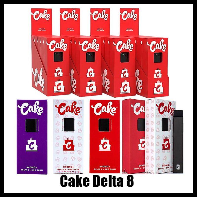 Torta Delta 8 Kit di avviamento monouso Kit E Sigarette Dispositivo Full Gram 1ml Capacità Vuota Pod Pod Ricaricabile Penna Vai Penna 280mAh Batteria per olio denso VS Bar Plus Max Bang XXL