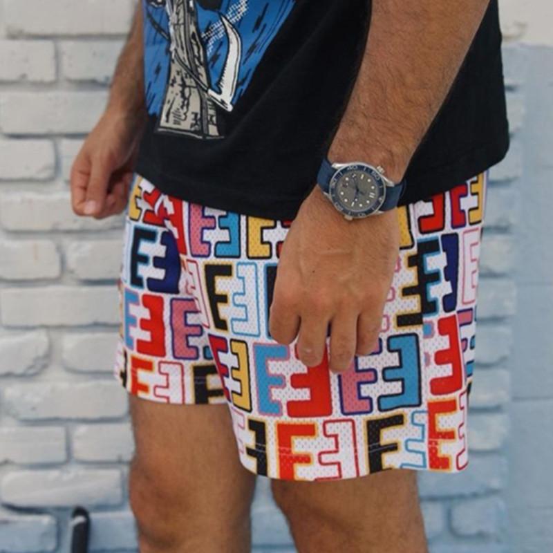EE Men's Fitness Shorts Quick Dry Muscular Deportes Pantalones cortos Diseñador de moda Casual Mesh Deporte Pantalón Gimnasio Correr