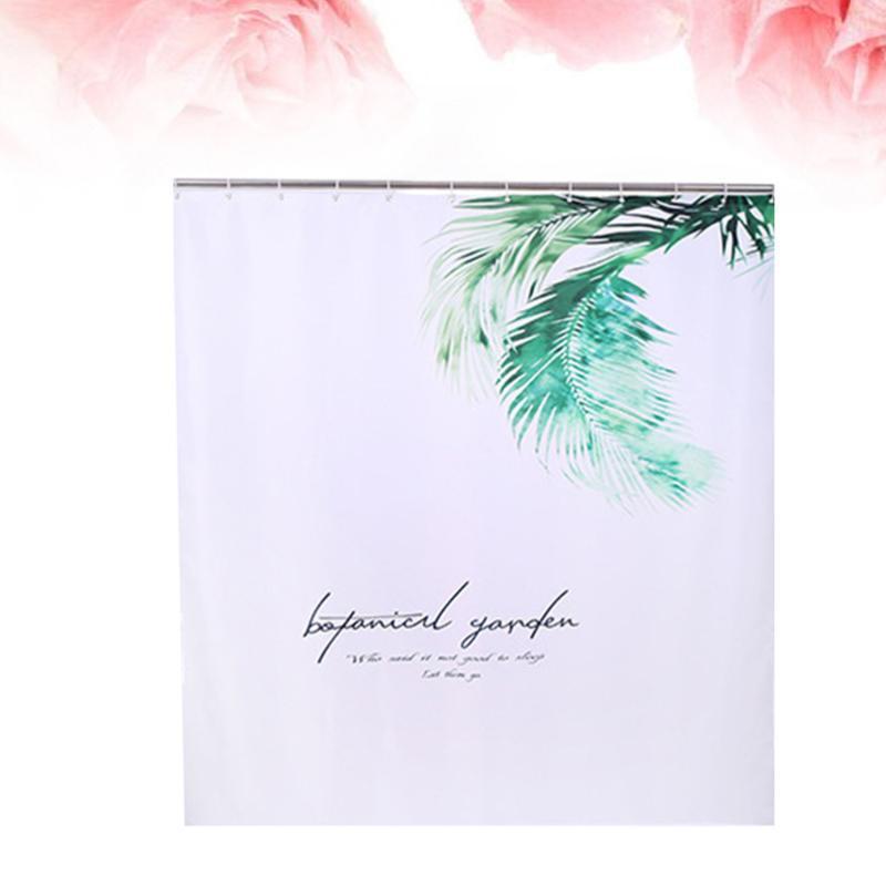 Chuveiro cortinas 3d planta folhas de impressão poliéster de poliéster impermeável banhando a decoração da sala de casa (1
