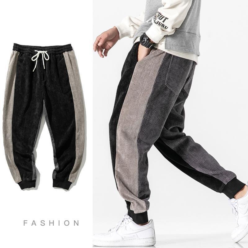 Erkekler Harem Pantolon 2021 Sonbahar Erkek Koşu Çin Tarzı Rahat Sweatpants Gevşek Pantolon Büyük Boy M-5XL Erkekler