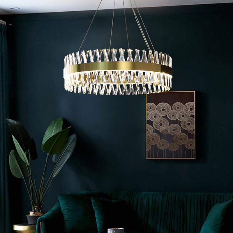 Pendant Lamps Nordic Crystal Modern Led Chandelier Bathroom Fixture Decoration Home Lampes Suspendues Hanglampen