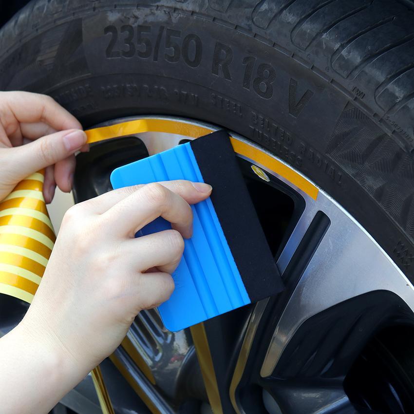 자동차 비닐 랩 필름 스퀴지 스크레이퍼 도구 차량 스타일링 자동 스티커 액세서리 창 아이스 리무버 플라스틱 항목